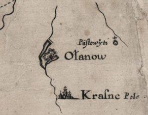 Уланів на карті Боплана
