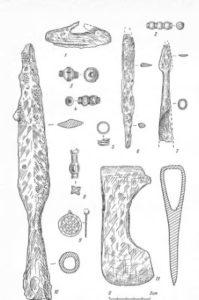 Вещи и украшения вымской культуры с Кичилькосьского могильника