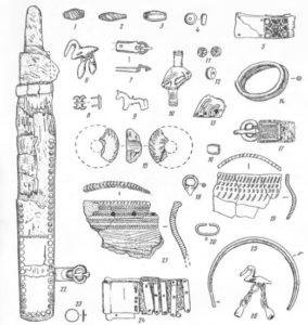 Инвентарь ванвиздинского времени с поселений на реке Вычегда и Вымь