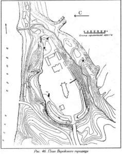 План Верейского городища