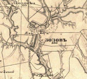 Зозів на карті Шуберта