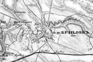 Браїлів на карті Шуберта