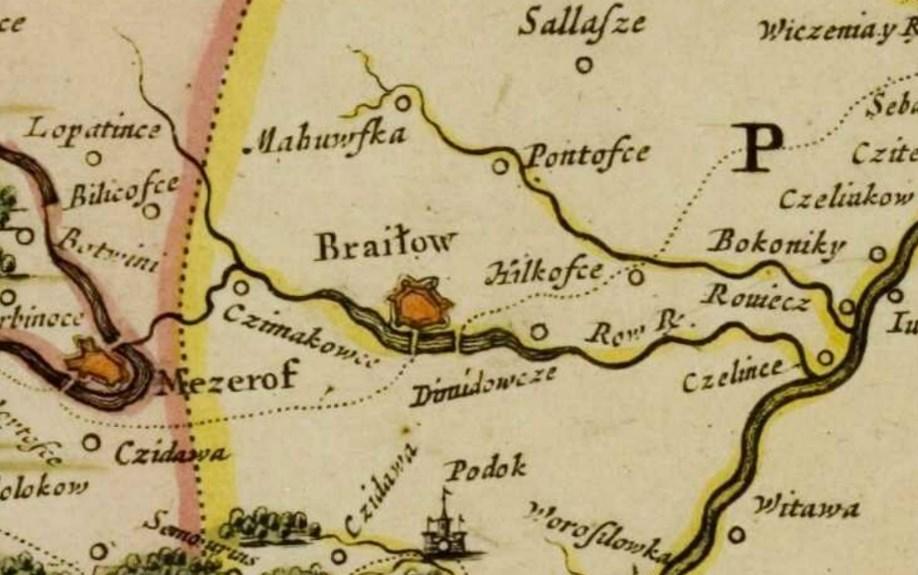 Карта Боплана, видання 1670 року