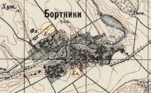 Кладовища у Бортниках, карта 1910 - 1911 років