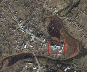 Костел на супутниковому знімку