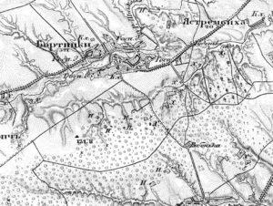 Ліс на карті Шуберта (1868 - 1877)