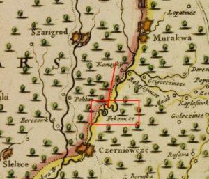 Містечко на карті Боплана без укріплень