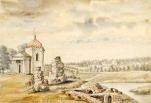 Руїни замку, акварель Наполеона Орди