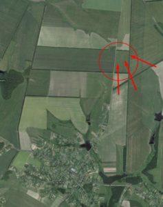 Вал на супутникому знімку