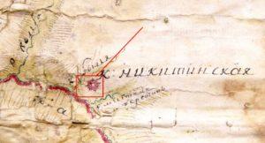 Фортеця на карті 1775 року