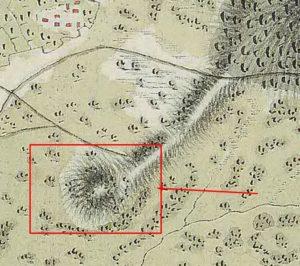Гора на австрійській карті другої половини ХVIII століття