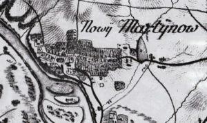 Новий Мартинів на карті фон Міга 1782 року