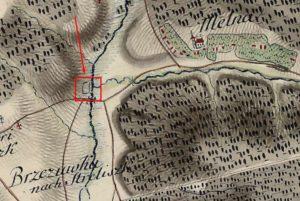 Прямокутник на карті фон Міга 1782 року