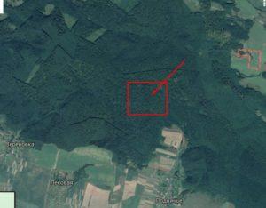 Приблизне місце розташування городища