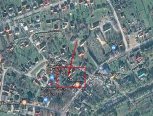 Приблизне місце розташування замку
