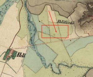 Приблизне розміщення острова на карті другої половини ХVIII століття