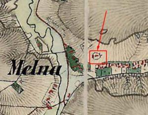 Церква на карті 1861 - 1864 років