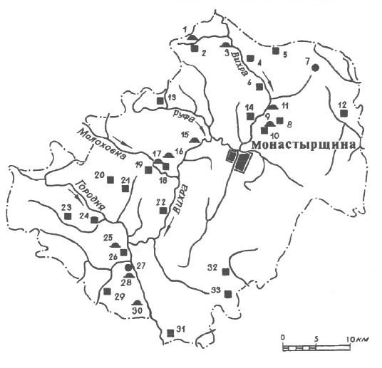 Археология Монастырщинского района