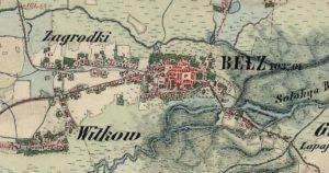 Белз на карті 1861 - 1864 року
