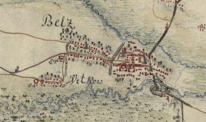 Белз на карті фон Міга 1782 року