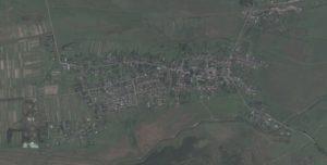 Белз на супутниковому знімку