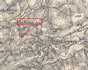 Городище Бабина гора на карті 1869 - 1887
