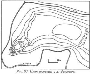 Городище у деревни Зверовичи