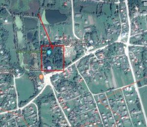 Замчиище на супутниковій фотографії