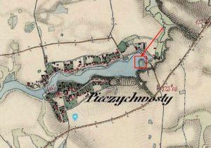 Замок на карті 1861 - 1864 років