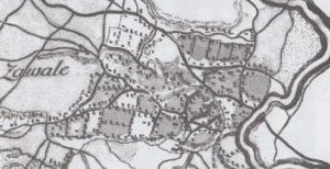 Завалля на карті фон Міга 1782 року