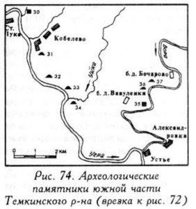 Археология южной части Темкинского района