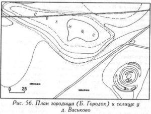 Городище у деревни Васьково