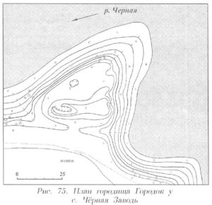 Городище у села Черная Заводь