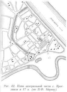 План центральной части Ярославля
