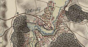 Золотники на карті фон Міга 1782 року