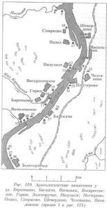 Археологические памятники у деревни Баренцево