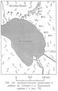 Археология озера Сомино