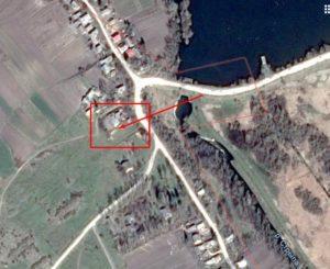 Замчище на супутниковій фотографії