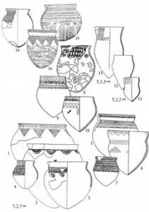 Під номерами 1 - 4 кераміка скелянської культури